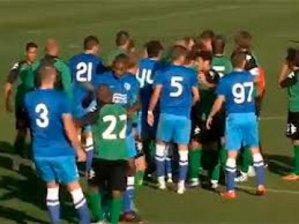 Футбольный матч между «Краснодаром» и «Днепром» закончился потасовкой